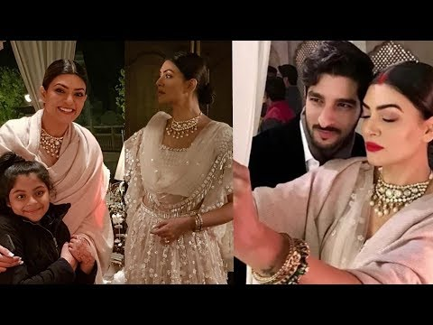 Sushmita Sen look royal on her ENGAGEMENT with Bf Rohmil Shawl