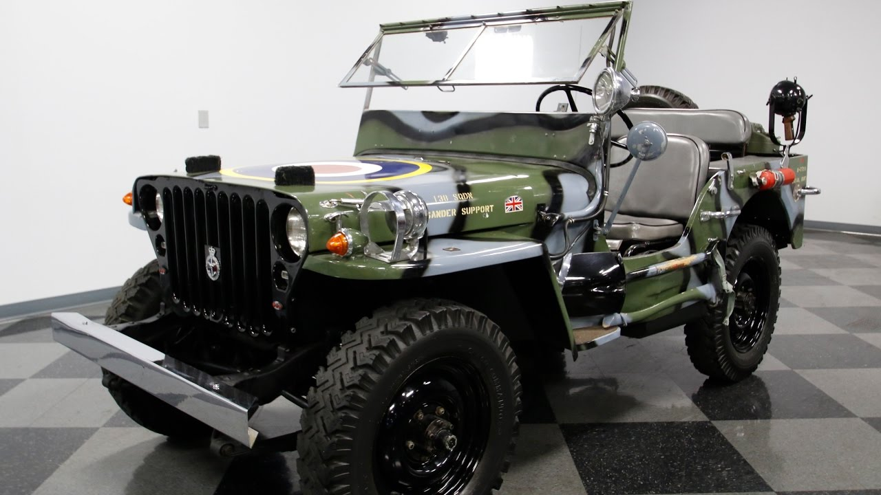 Military Jeeps For Sale >> 4067 Cha 1945 Willys Military Jeep