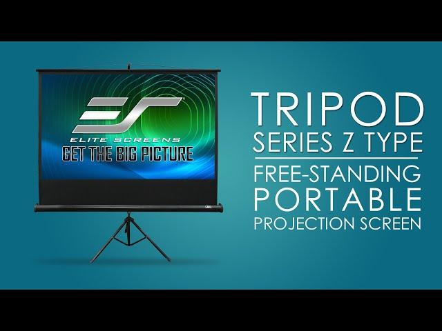 Elite Screens Tripod Series | Portable Projector Screen | T100UWH 100-inch | MaxWhite® 2 Material