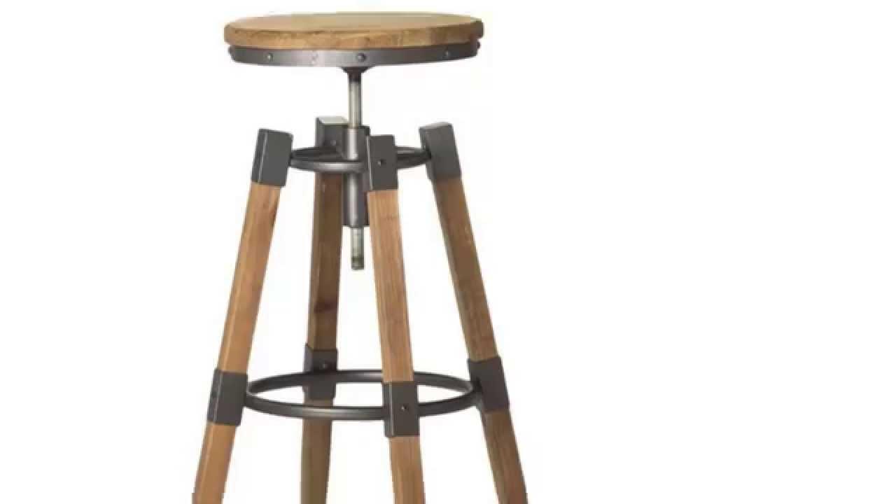 Big Low Aurelle Home Industrial Wood and Iron Adjustable