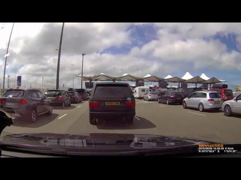 Calais to Dover by P&O Ferry - annotations explained experience - 08.2015 Mio MiVue 568