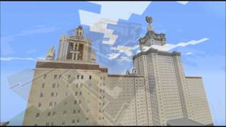 Minecraft Timelaps lomonosov moscow state university