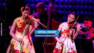 """From the top presents """"the khuong-huu violin duo"""" on wednesday september 9th, 8pm (et) / 5pm (pt). watch these incredible sisters perform works by kreisler, ..."""