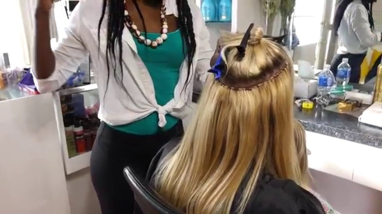 Hair Extensions For Short Blonde Hair Youtube