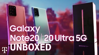 NEW Samsung Galaxy Note 20 5G & Note 20 Ultra 5G Unboxing | T-Mobile