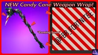 *NEW* Candy Cane Weapon Skin LEAKED! *Coming Soon* | Fortnite Battle Royale