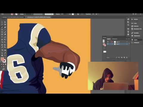 Hall Of Famer Orlando Pace Time Lapse Digital Painting(WOW) 18 Hour Process