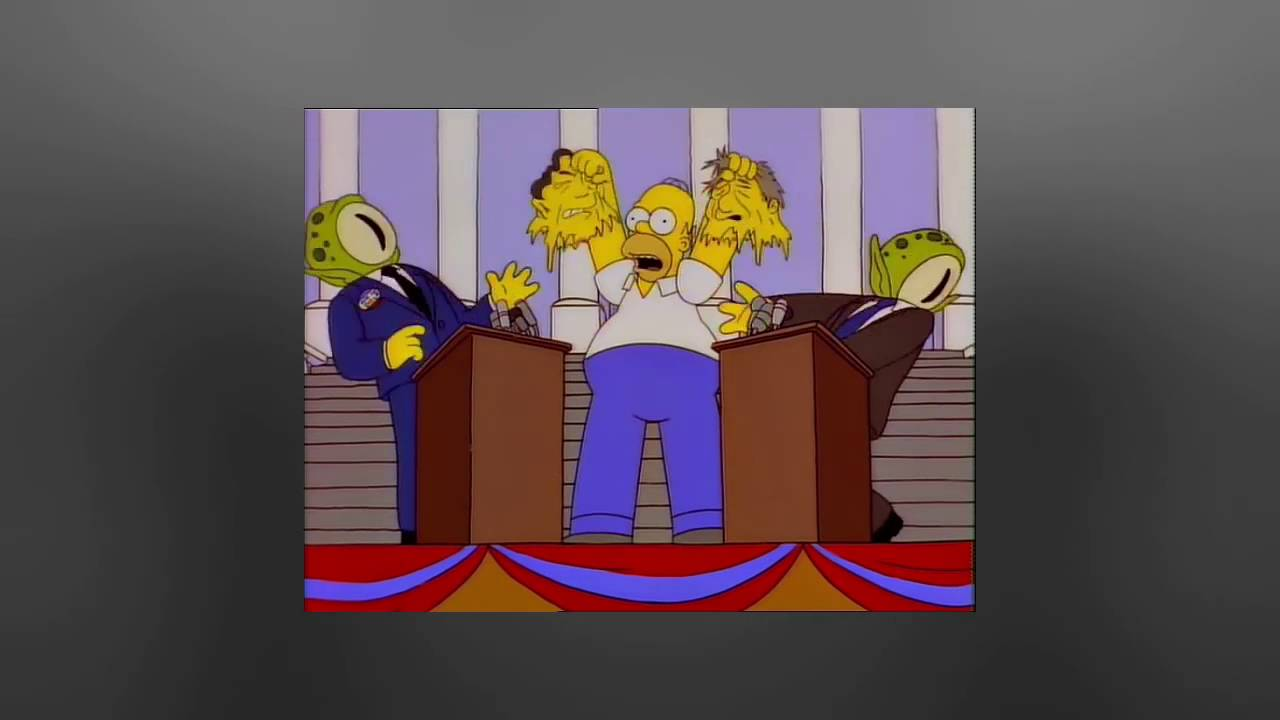 The Simpsons BILL Clinton Alien Presidential Candidates