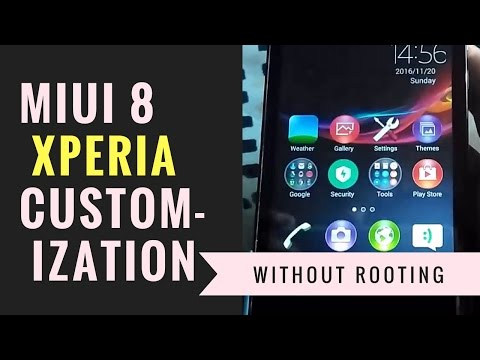 Miui 8 Xperia Style Customization without Root