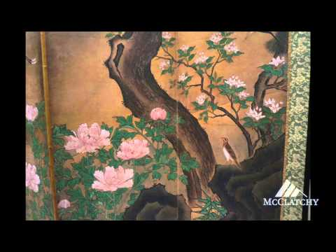 Spring blooms in Japanese screens at the Freer Gallery of Art