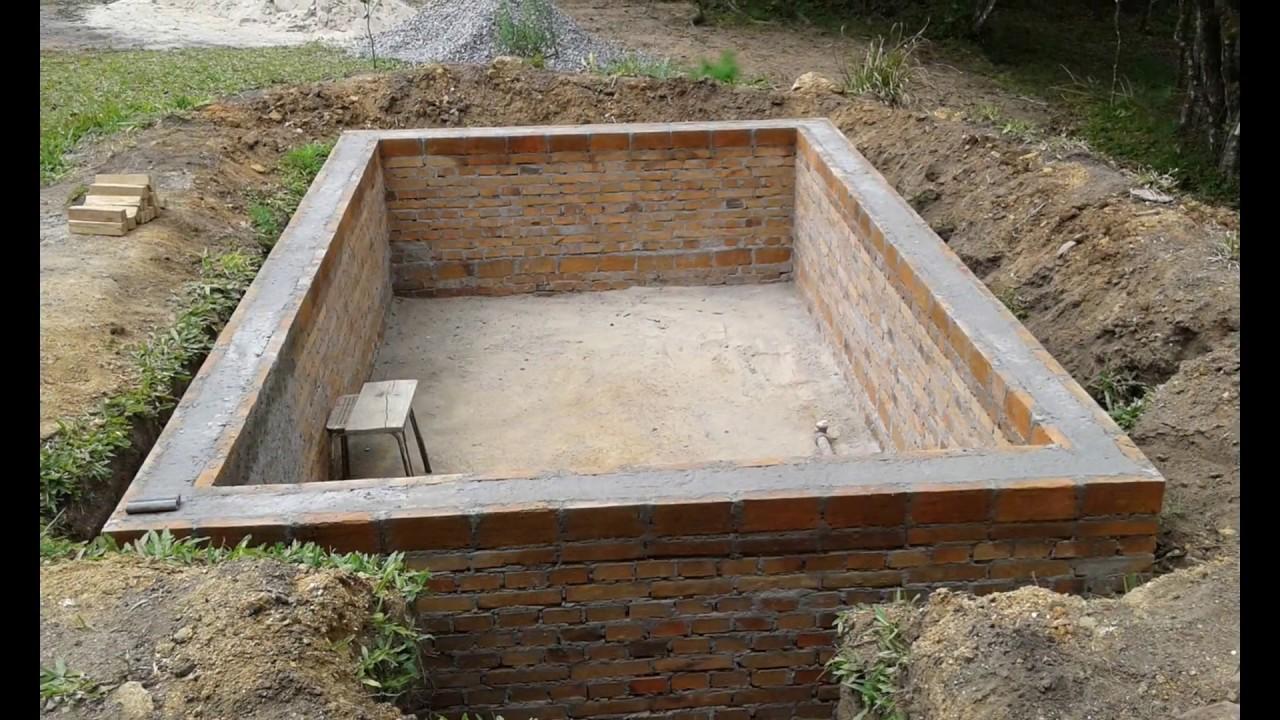 Fazendo uma piscina 3x5 youtube for Como construir una alberca barata