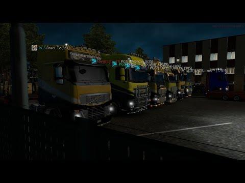 Euro Truck Simulator 2 Multiplayer Dortmund-Stuttgart Konvoyu (Türkçe)