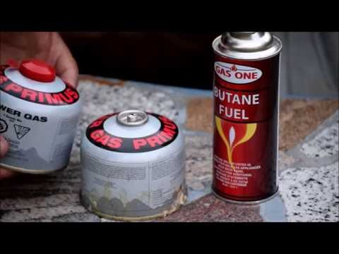 Refilling a camping gas canister with butane DIY  Save money  - YouTube