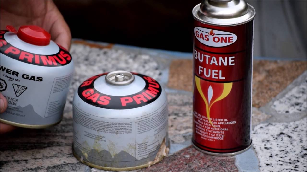 Refilling a camping gas canister with butane DIY  Save money