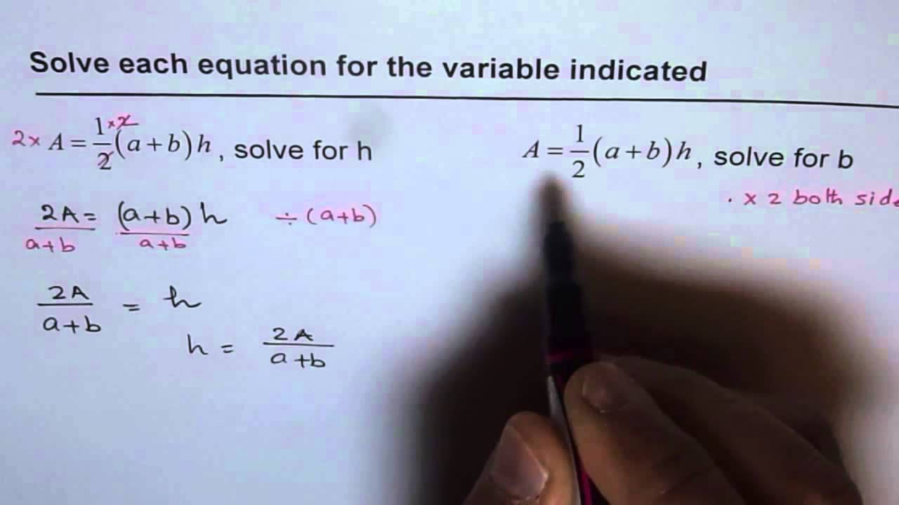 Rearrange isolate and solve for variable from area of trapezoid rearrange isolate and solve for variable from area of trapezoid ccuart Image collections