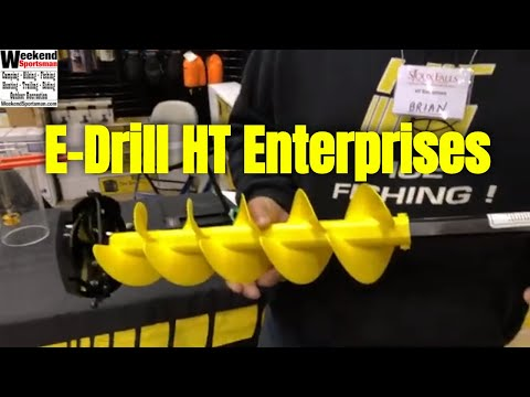 E-Drill Ice Auger For Cordless Drills From HT Enterprises