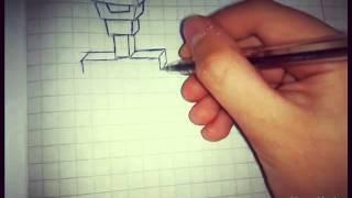 видео как нарисовать скелета