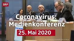Medienkonferenz des BAG - 25. Mai 2020 | LIVE | SRF News