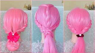 Easy hairstyle for girls 2020 | twist and braid hairstyle tutorial #7 |