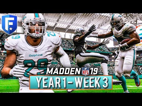 Madden 19 Dolphins Franchise Year 1 - Week 3 vs Raiders | Ep.4