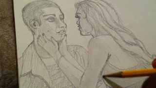 Live Drawing #6 - Stiles And Lydia