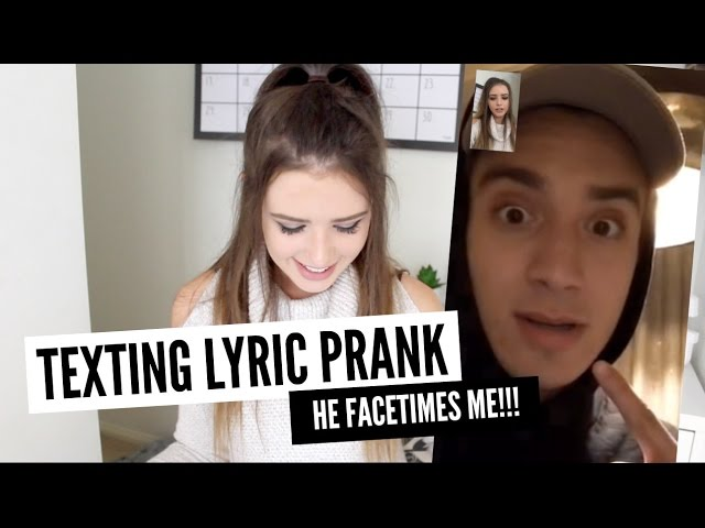TEXTING LYRIC PRANK ON MY FIANCE (HE FACETIMES ME!)