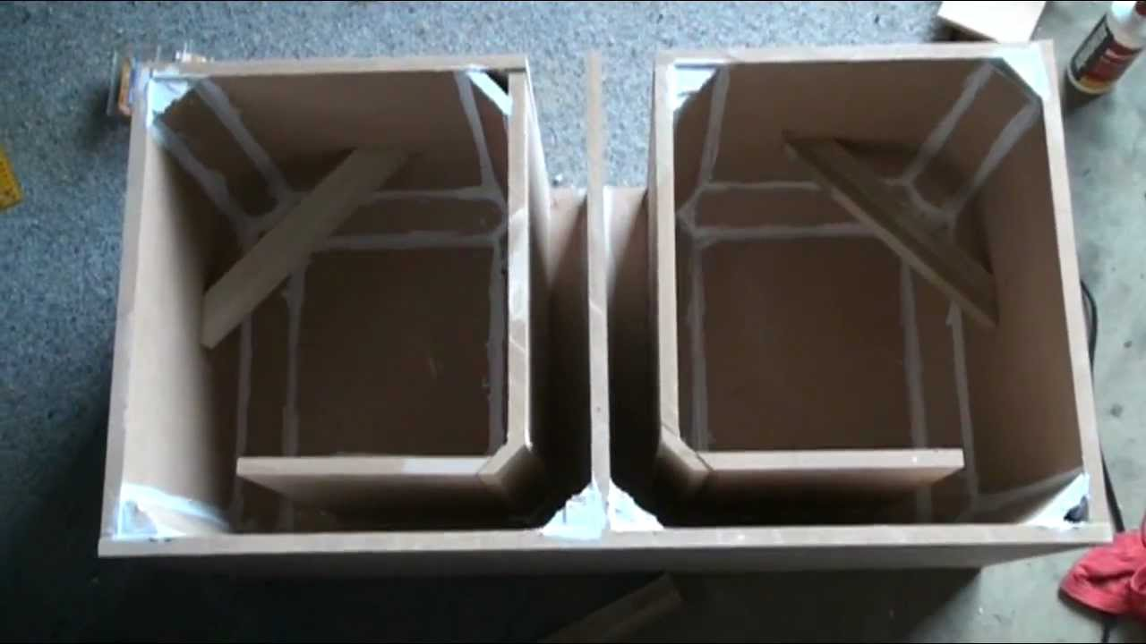 hight resolution of ported box build pt 2 for 2 kicker solo classic 12 subs 45 s ports youtube