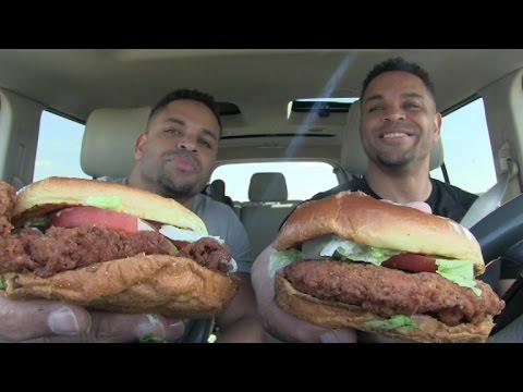 Eating Burger King New Crispy Chicken Sandwich @hodgetwins