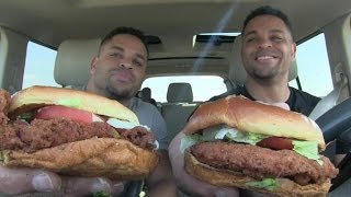 Eating Burger King New Crispy Chicken Sandwich @hodgetwins