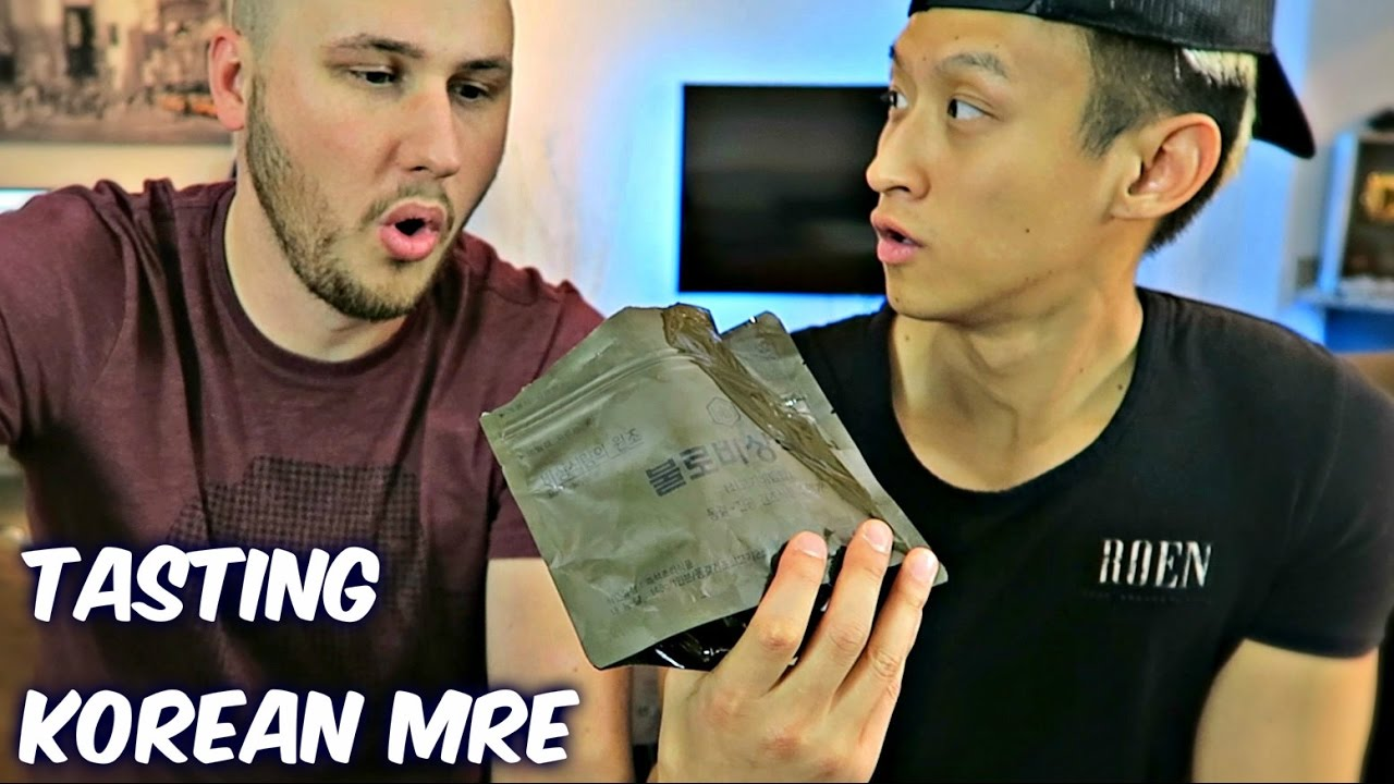 Tasting Korean Military MRE (Meal Ready to Eat)
