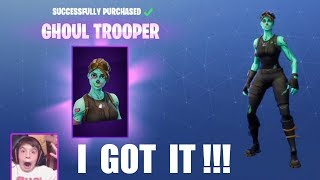 GHOUL TROOPER ORIGINAL PURCHASE VIDEO (Live Streamed) FORTNITEMARES - Season 1