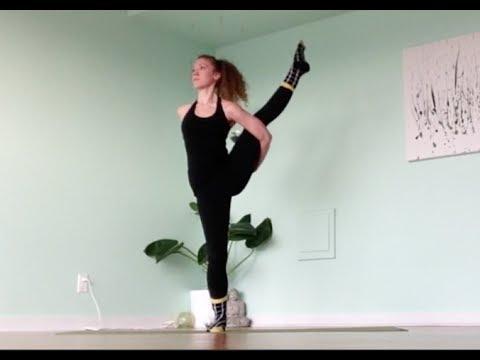 bird of paradise yoga flow with fun socks  youtube