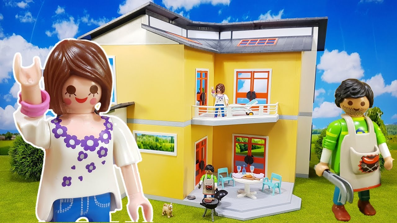 New Playmobil City Life Modern Doll House Play Set 9266 For Kids