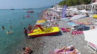 Сочи Лазаревское Полет Пляжи 39°C Коптер Не Выдержал (4К полный экран)