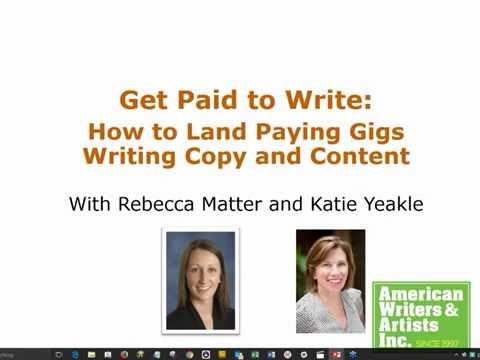 Get Paid to Write: How to Land Paid Assignments Writing Copy and Content – Free Webinar