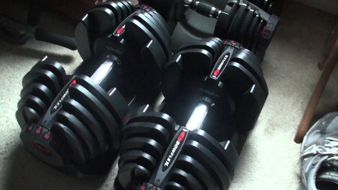 Try Bowflex Max >> Bowflex Selecttech Dumbells 552/1090 Comparison - YouTube