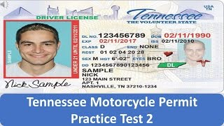 Tennessee Motorcycle Permit Practice Test 2
