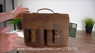 Ruitertassen Leder Aktentasche mit 2 Fächern ranger braun 2133-73