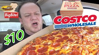 COSTCO ☆$10 PEPPERONI FOOD COURT PIZZA☆ Food Review!!!