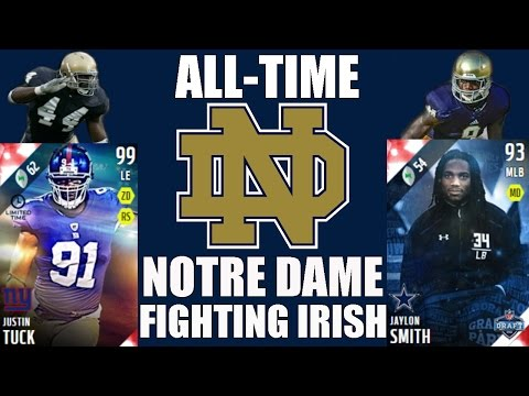 All-Time Notre Dame Fighting Irish Team - Justin Tuck and Jaylon Smith! - Madden 16 Ultimate Team