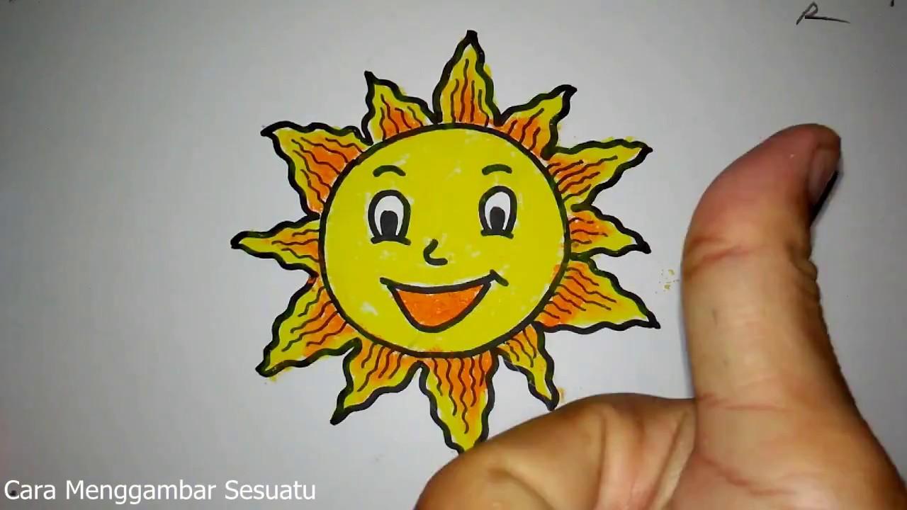 Cara Menggambar Matahari Lucu Youtube