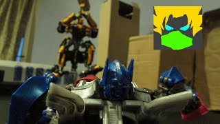 Transformers The Last Knight Stopmotion - Bumblebee VS Barricade VS Optimus Prime