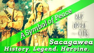 Sacagawea Rap Song for Kids, Sacagawea's True Story with Main Idea and Supporting Details Worksheets