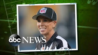 Sarah Thomas set to become the 1st woman to officiate an NFL playoff game