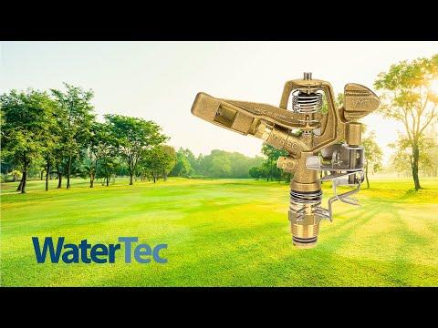 Messing Sprinkler 50m AG 1 Kreisregner Sprenger Rasenregner Impuls Regner Voll Teilkreisregner Bradas 0161
