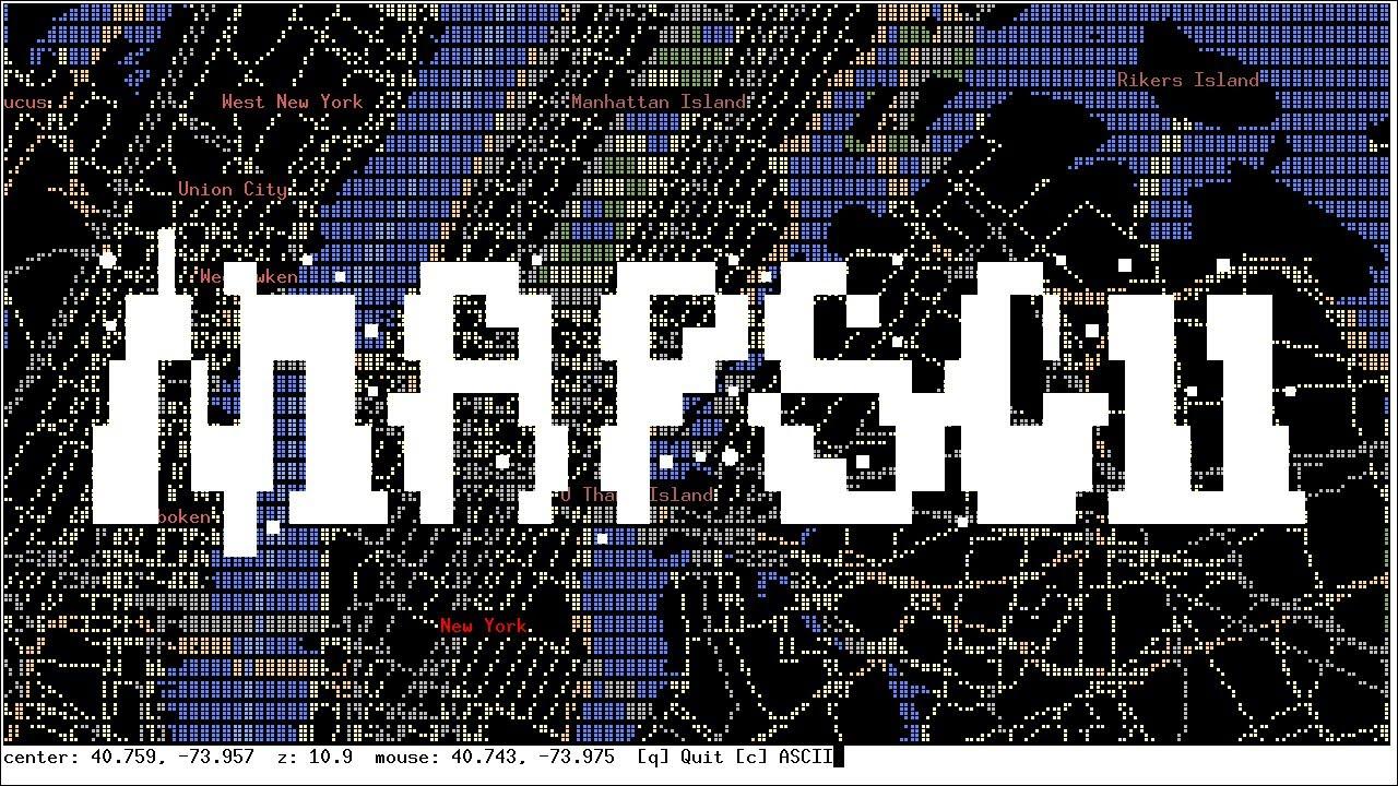 MapSCII – ASCII Map Renderer for the Console – Bram us
