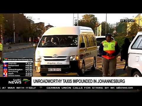 Unroadworthy taxis impounded in Johannesburg