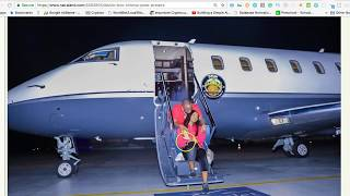 DAVIDO RELEASES PICTURE OF CHIOMA ON PRIVATE JET