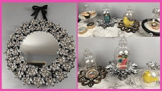DECORATIVE WALL MIRROR | DIY CLOCHE DECOR | DOLLAR TREE DIY