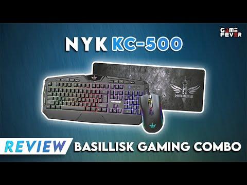 Paket Peralatan Gaming Murah Berkualitas - Review NYK KC-500 Basillisk / GameFever ID